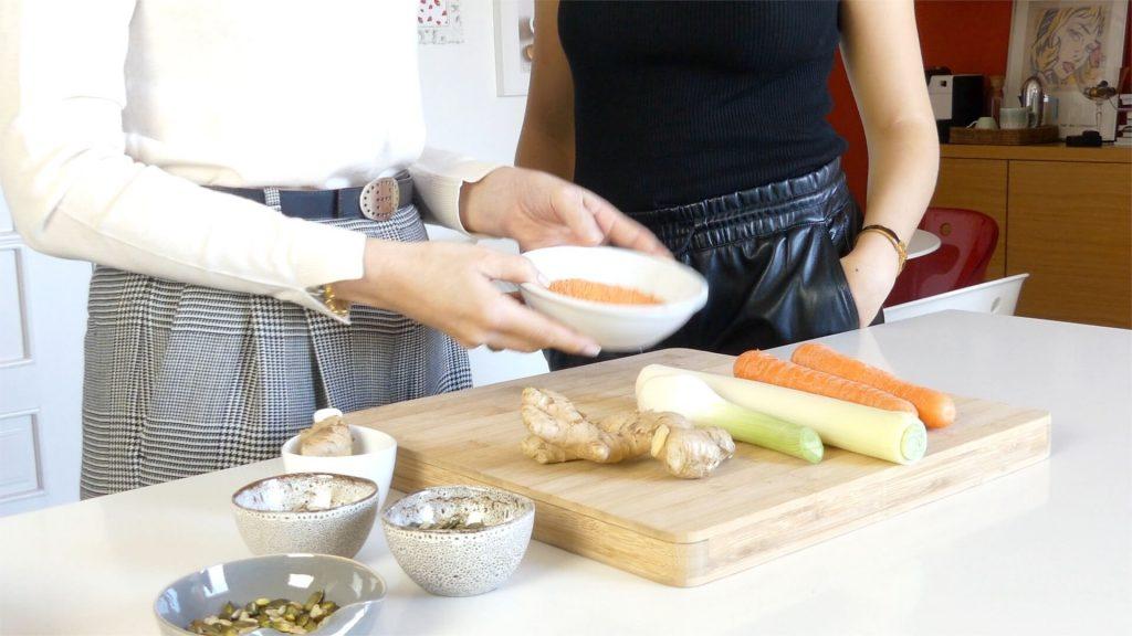Sopa Reconfortante de Cenoura, Lentilhas e Gengibre