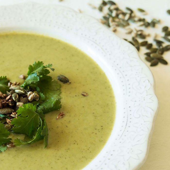 Sopa de Brócolos e Espinafres