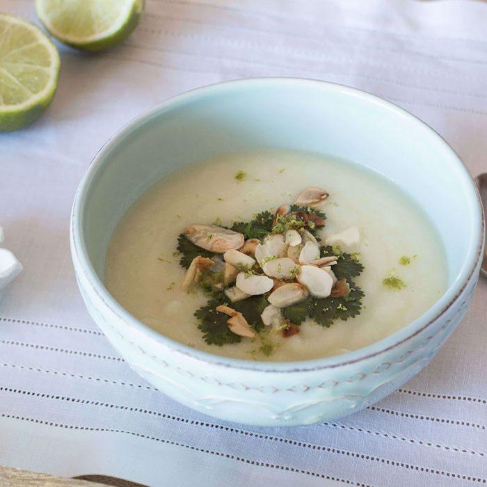 Sopa de Couve-flor, Alho-francês e Lima
