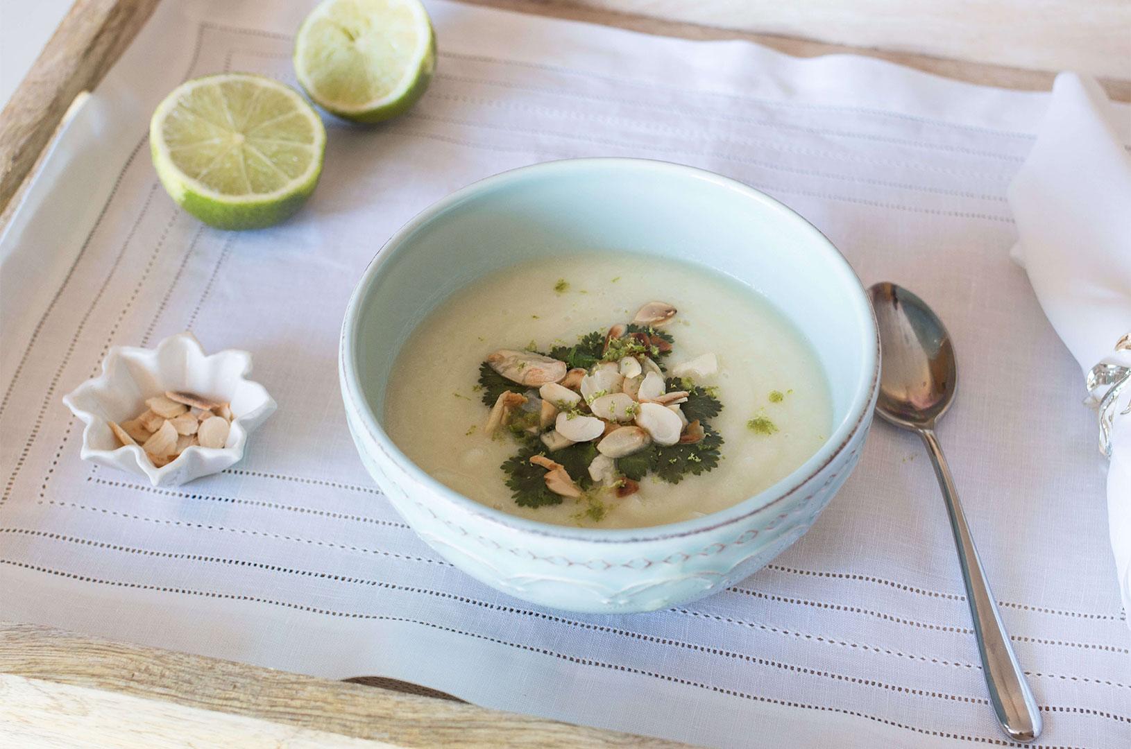 Sopa de Cuve-flor, Alho-francês e Lima