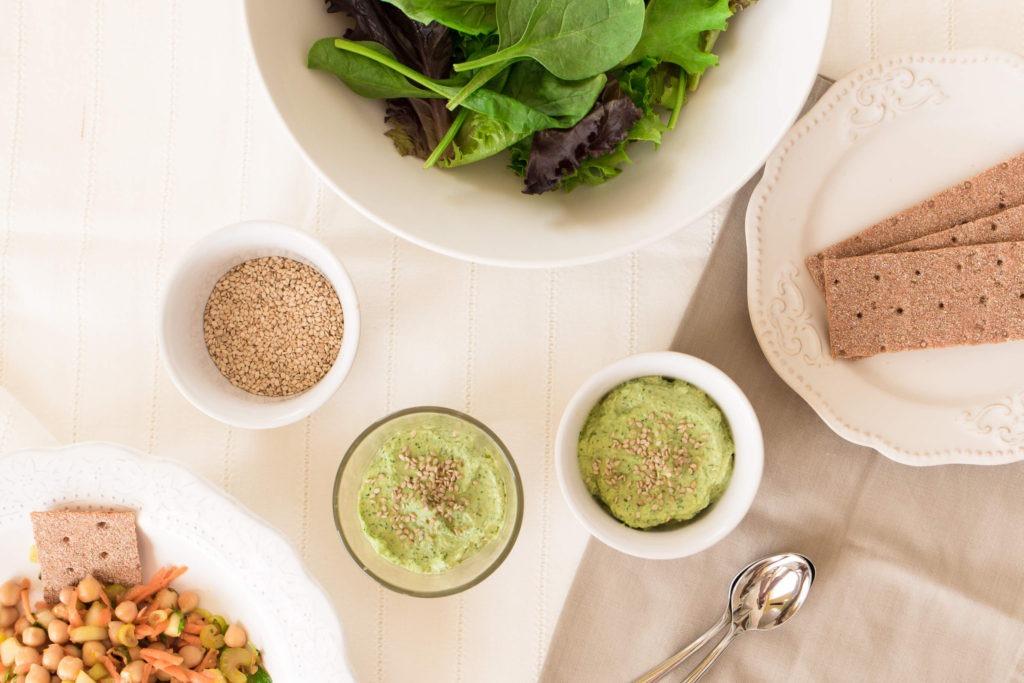 Molho verde de tahini e ervas