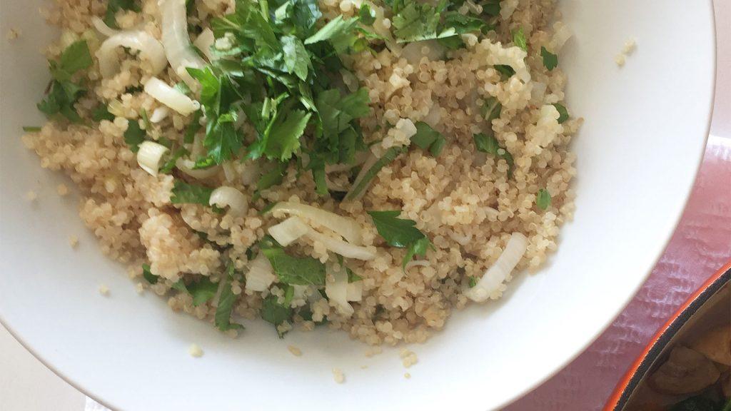 Quinoa com Cebola e Limão