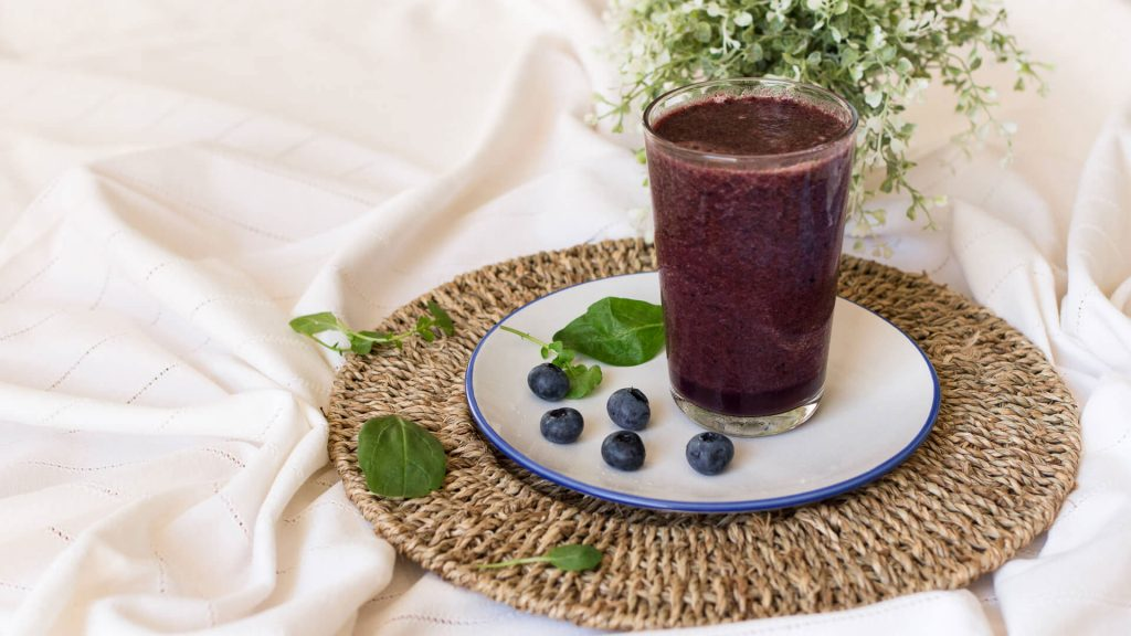 Melon & Blueberries Smoothie