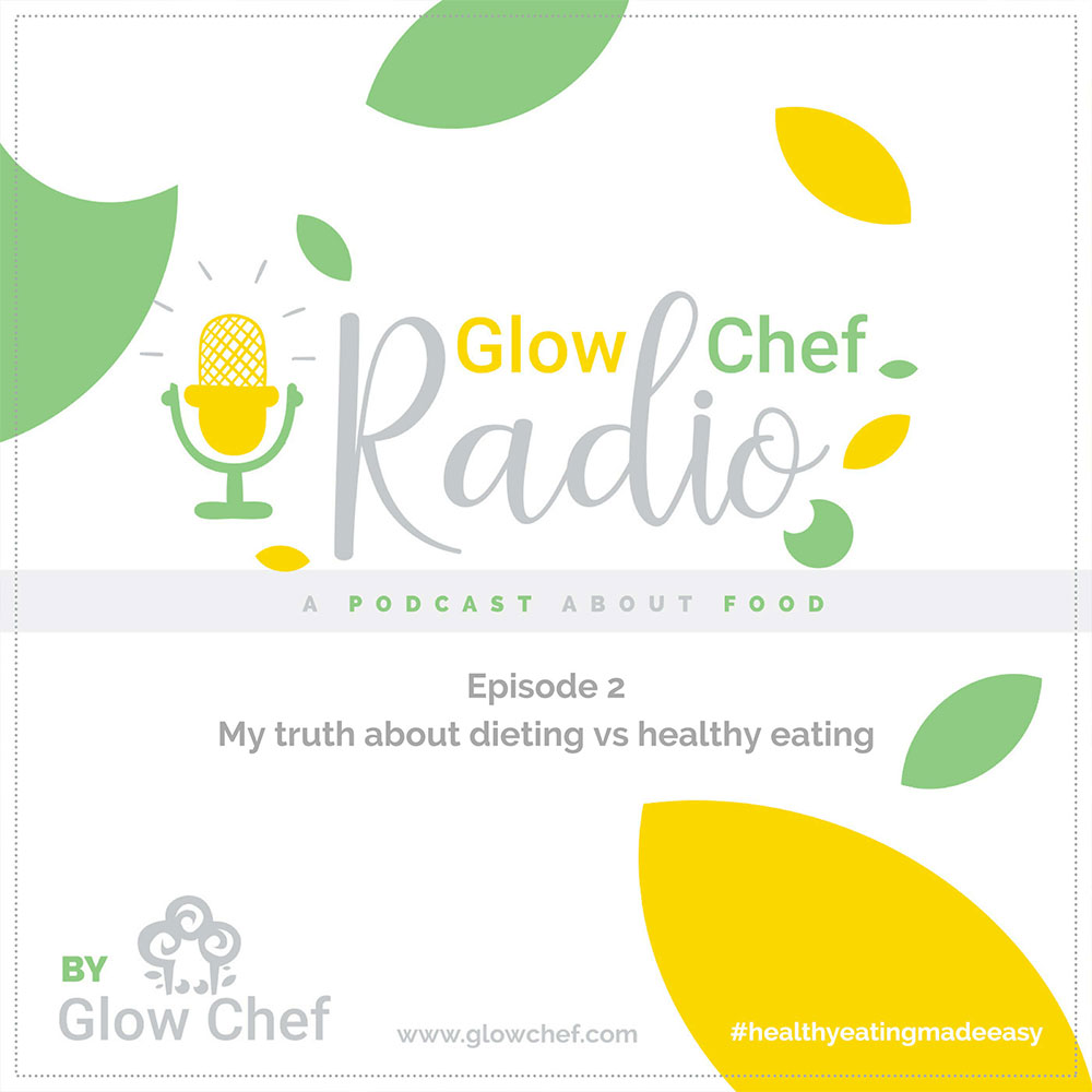 Glow Chef Radio, Sílvia Almeida, podcast, healthy eating, wellbeing, mentoring, diet