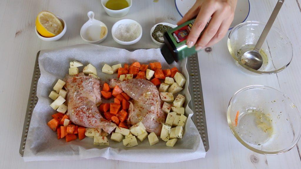 Coxas de Frango com Cenoura e Pastinaca