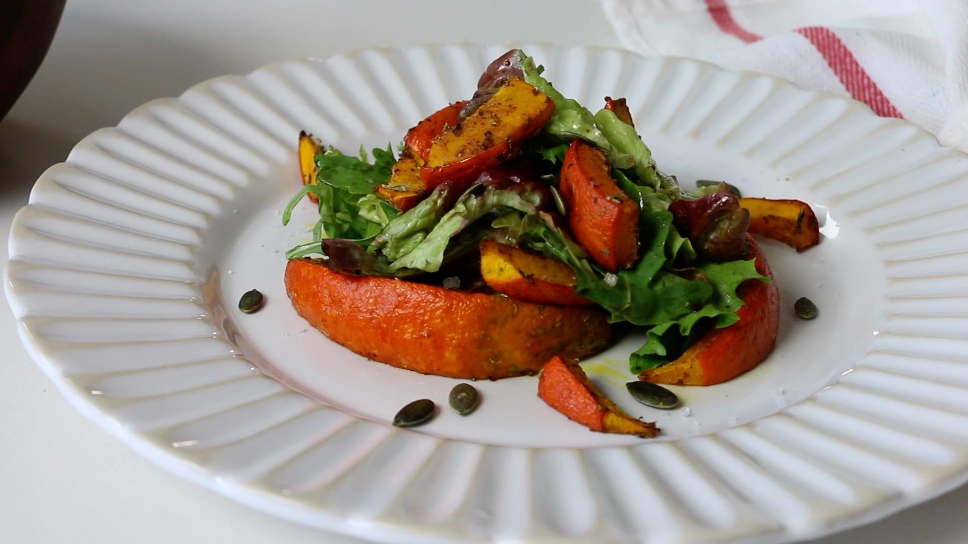 Salada de Inverno com Abóbora Hokkaido