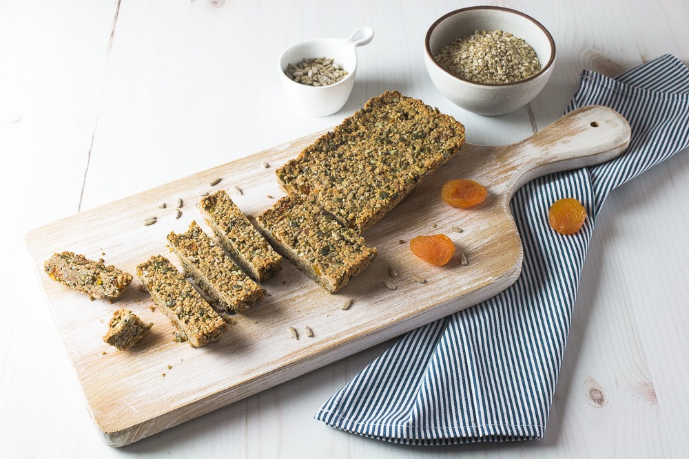 Barrinhas de gengibre e aveia: snack saudável