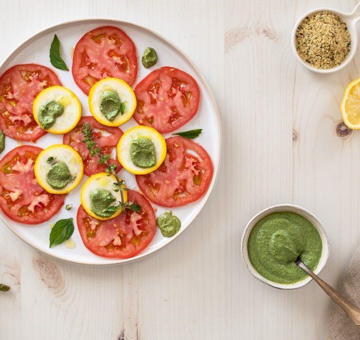 Pesto de mangericão limão, receitas com tomate, receitas com sementes de cânhamo, Tomato Recipes, What to do with tomato